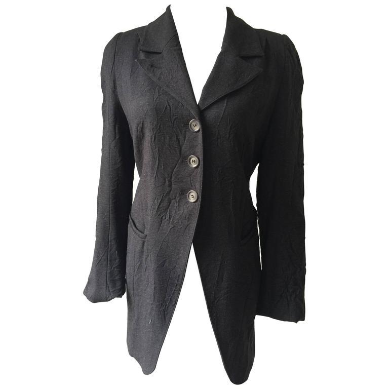 Ann Demeulemeester Crinkled Wool Jacket 38 1