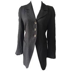 Ann Demeulemeester Crinkled Wool Jacket 38