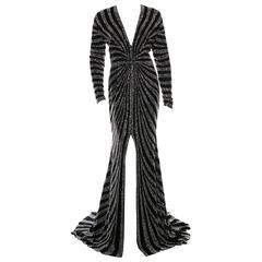 2016 Naeem Khan Embellished Silk Velvet Gown