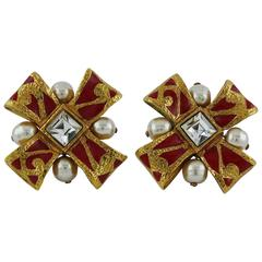 Christian Lacroix Vintage Bow Clip-On Earrings