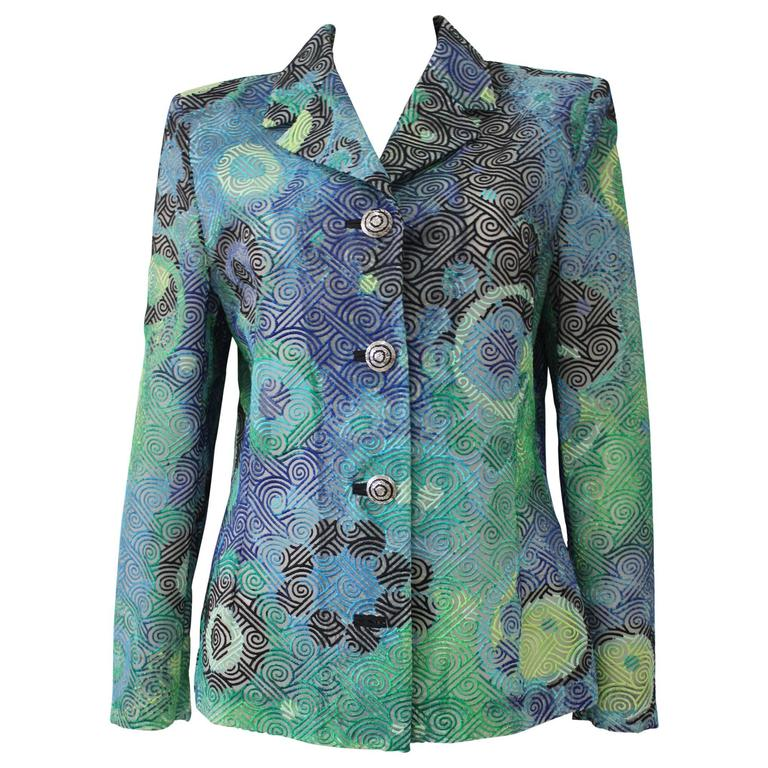 Gianni Versace Couture Punk Laser-Cut Jacket Spring 1994