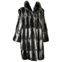 Revillon Grey Chinchilla Fur Coat