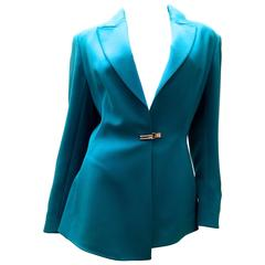 Claude Montana 1980's - Breathtaking Electric Blue Blazer