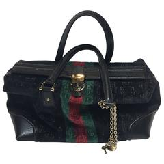 Gucci Black Velvet Treasure Boston Bag