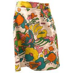 Rare Peter Max Original Vintage Skirt