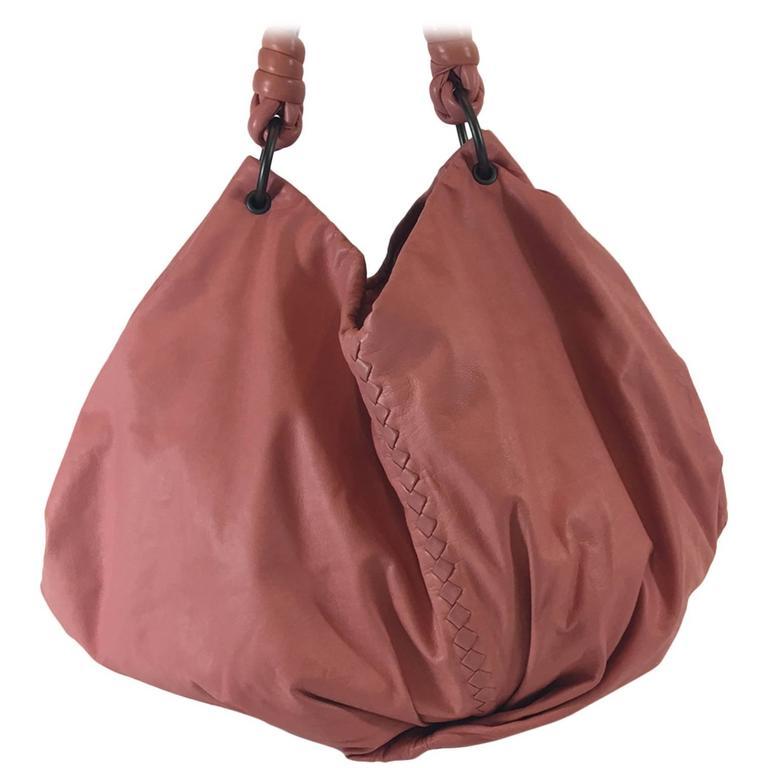 Bottega Veneta Petal Woven Leather Aquilone Fortune Cookie Hobo Bag, 2010  For Sale
