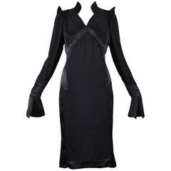Tom Ford for Yves Saint Laurent Black Silk Dress 2004