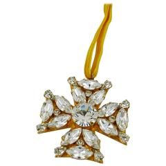 Vintage Bejeweled Maltese Cross Pendant