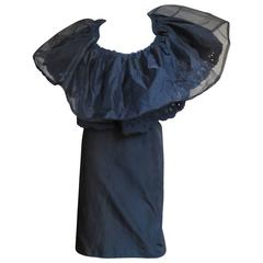 2001 Comme des Garcons Large Ruffle Collar Dress