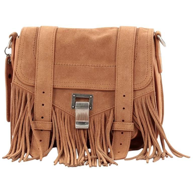 Proenza Schouler PS1 Pouch Suede Fringe Small 1
