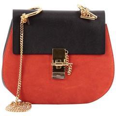 Chloe Drew Crossbody Bag Leather and Suede Medium