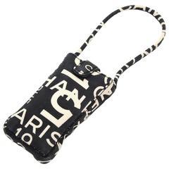 Chanel Black x White Canvas Mobile Phone Sunglasses Case