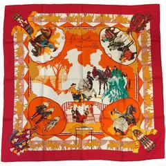 1996 Hermes Feria de Sevilla Silk Twill Carre by Hubert de Watrigant