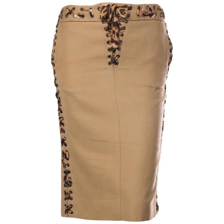 Tom Ford Yves Saint Laurent Safari Skirt
