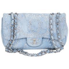 Chanel Rhinestone & Denim Flap Bag