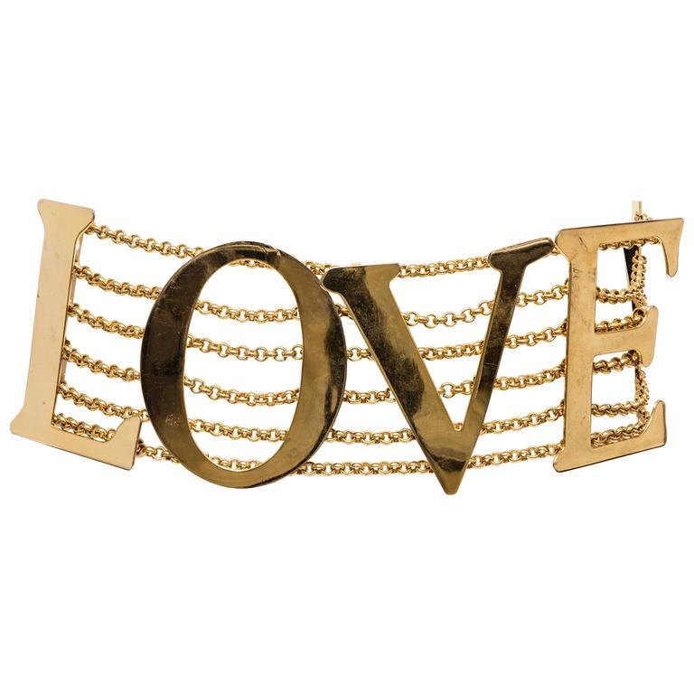 Dolce & Gabbana Love Black Leather Belt, Spring - Summer 2003 1