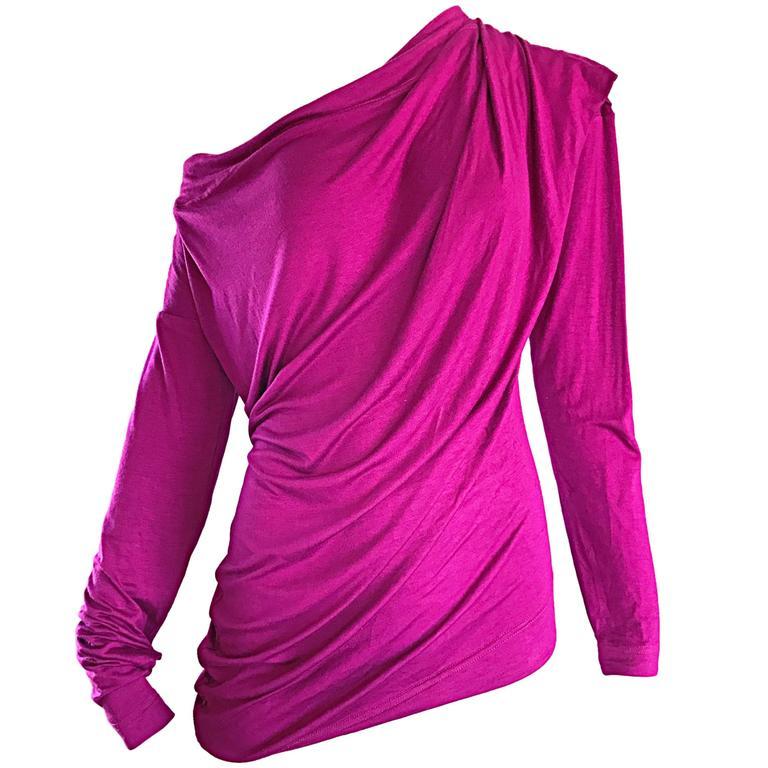 Vivienne Westwood Vintage 90s Magenta Fuchsia Pink Avant Garde Tunic Top Dress For Sale