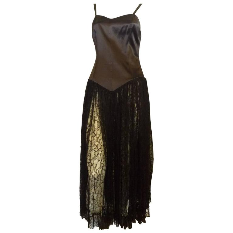 1980s norma kamali black evening dress 8 for sale at 1stdibs