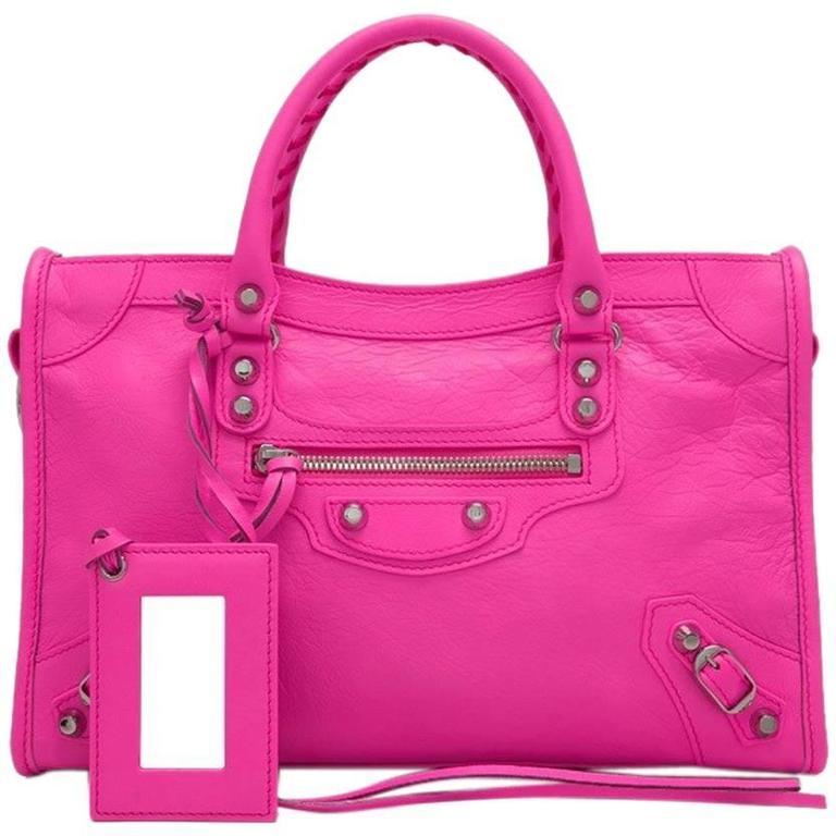 Balenciaga Hot Pink Small City Classic Silver Hardware, 2016