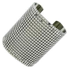 Paco Rabanne Vintage Wide Disco Bracelet Cuff