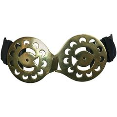 Gherardini Huge Brass Mod Belt, Italy