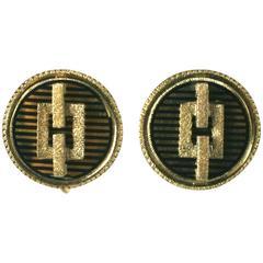 Victorian Architectural Enamel Earrings