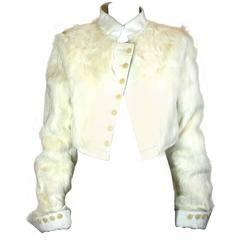 Strenesse, Goat and Calf Regimental Style Jacket