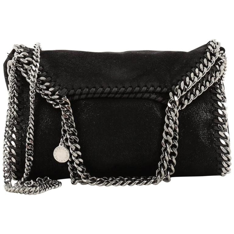 Stella McCartney Falabella Fold Over Crossbody Bag Shaggy Deer Mini For Sale 377eb20019