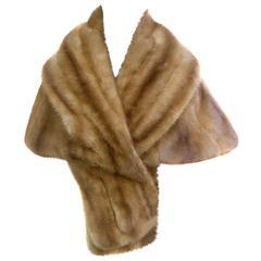Schiaparelli Rare Luxurious Autumn Haze Mink Stole c 1960