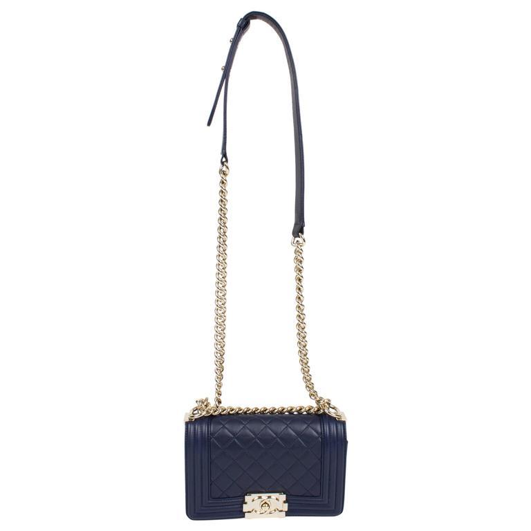 Chanel Boy Bag Mini - blue at 1stdibs 7b8455ad2c6d