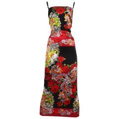 Dolce & Gabbana Chinese Dragon Evening Dress, circa 1999