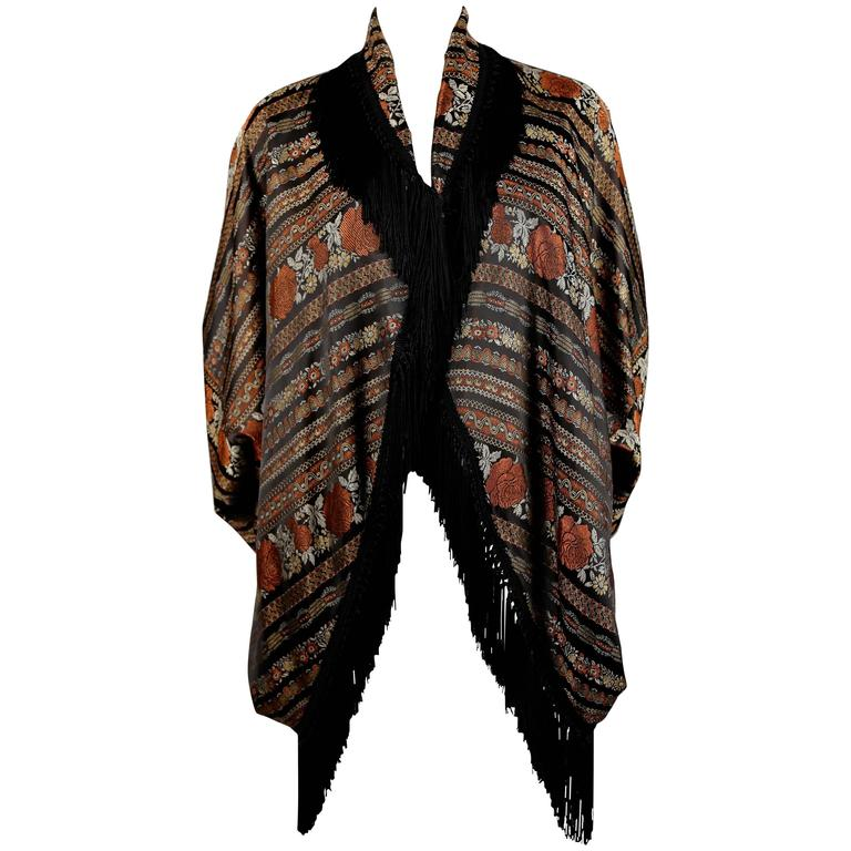 ROMEO GIGLI for CALLAGHAN draped jacket with fringe