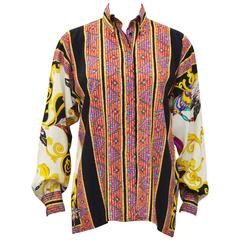 Early 2000's Versace Silk Printed Shirt