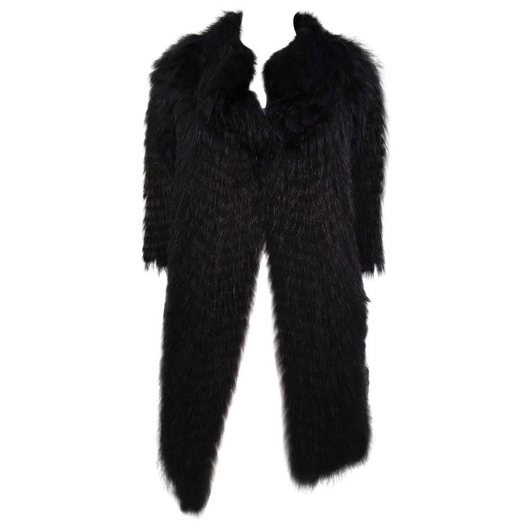 Cassin Dyed Raccoon Fur Coat 1