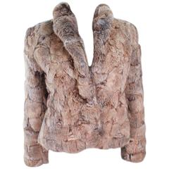SERGIO VALENTE 1970's Chunky Rabbit Fur Jacket Size Medium