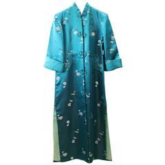 1964 Vintage Female Grene Silk Kimono