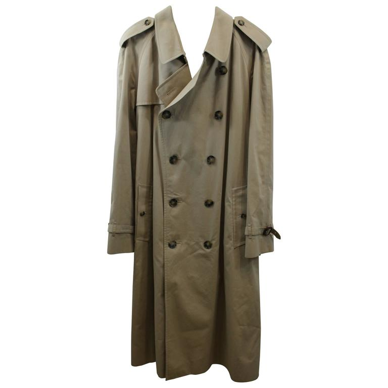 Burberry Mens Trench Coat Size European 52 At 1stdibs