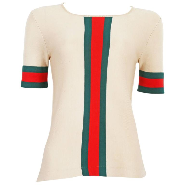Gucci iconic striped knitted t-shirt, circa 1970s For Sale