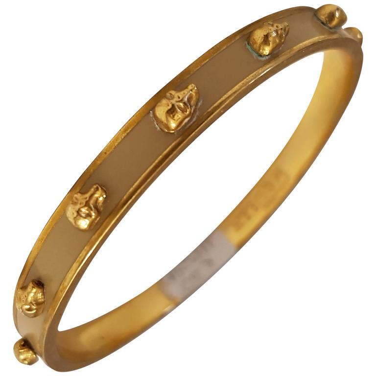 Alexander Mcqueen Skull Bracelet For