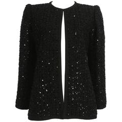 Yves Saint Laurent Haute Couture sequinned evening jacket, circa 1978