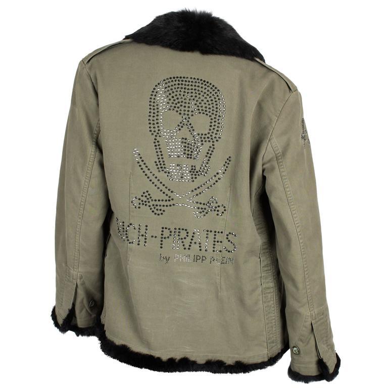 Philipp Plein Jacket - army green/black fur For Sale