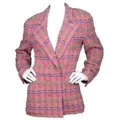 Chanel Pink and Purple Tweed Jacket