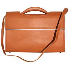 Connolly Natural Leather Briefcase Rare and Exceptional