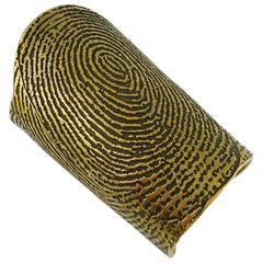 Yves Saint Laurent YSL Massive Runway Fingerprint Cuff Bracelet