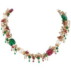 Exquisite handmade Moghul style necklace, Chanel, 1960s