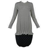 Junya Black & White Stripe Accordion Dress 2015