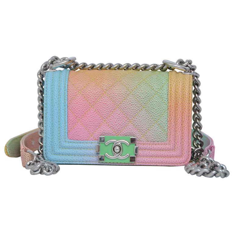 Super Rare Chanel MICRO Rainbow Cuba  Boy Handbag '17 Crossbody NEW 1