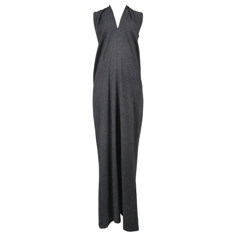Margiela Flat Grey Maxi Dress 1998