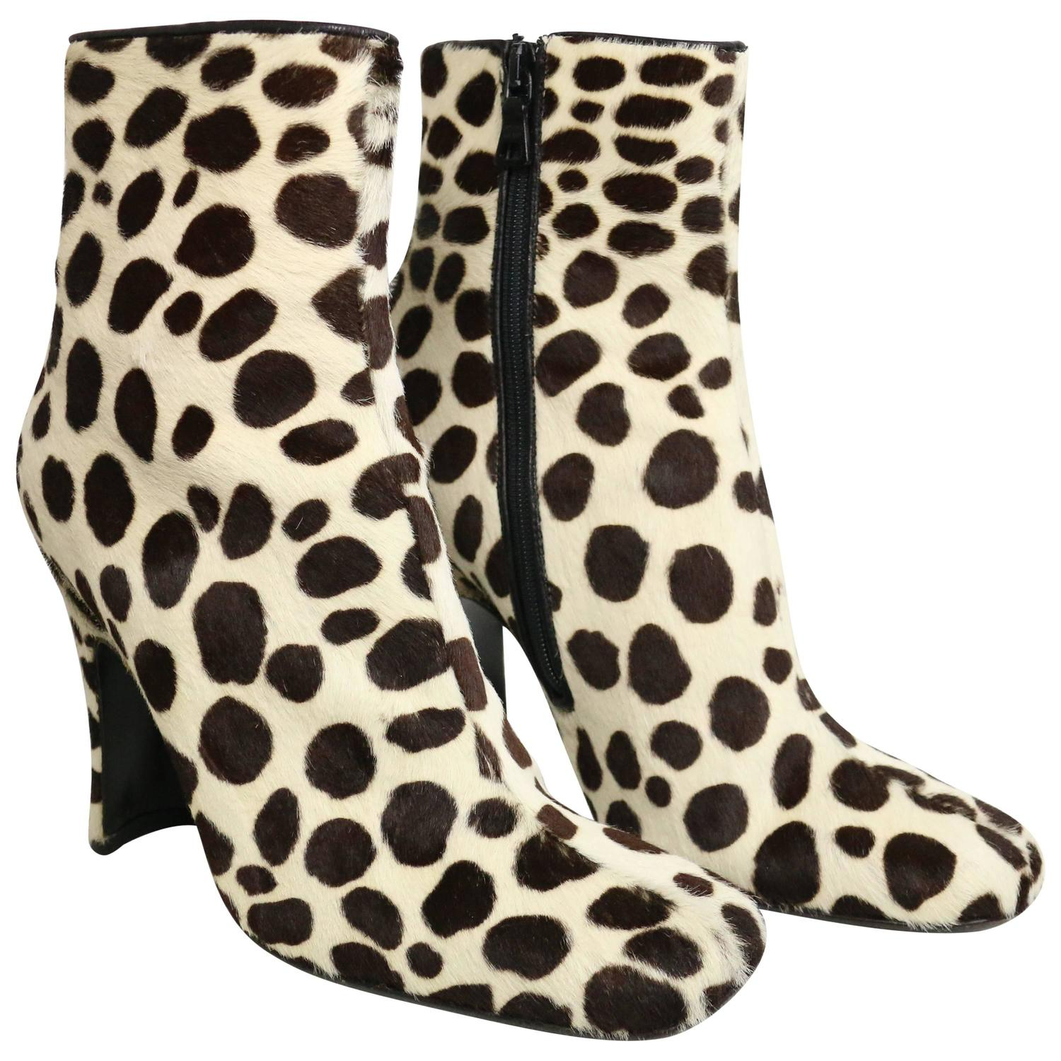 Prada leopard print pony hair ankle boots for sale at 1stdibs thecheapjerseys Gallery