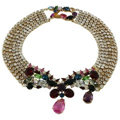 Christian Lacroix Vintage Bejeweled Collar Necklace